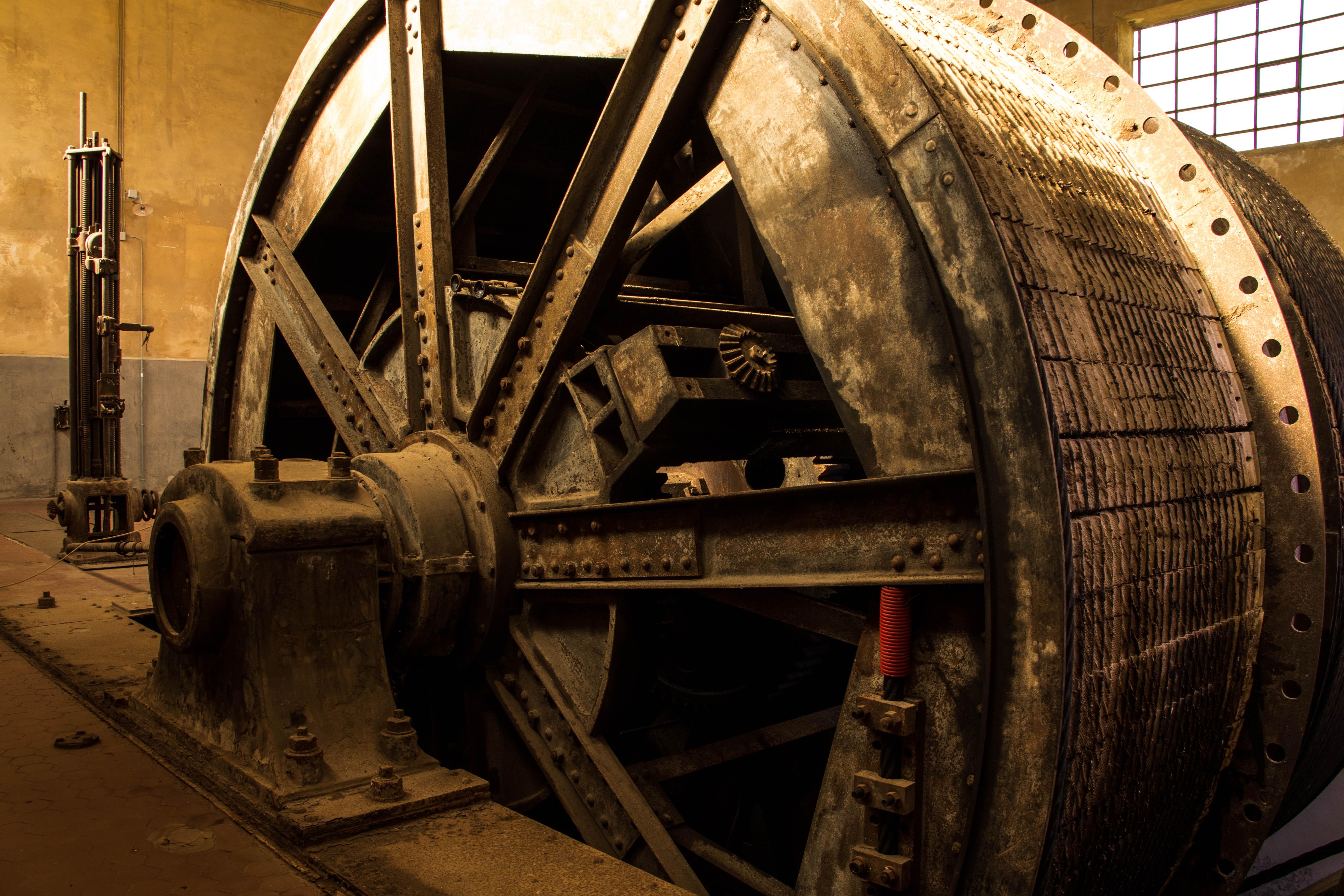 Sala argani - Museo del carbone - Grande Miniera di serbariu, Carbonia