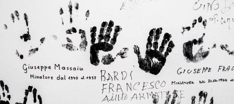 Impronte dei minatori - Museo del Carbone - Grande Miniera di Serbariu, Carbonia - Riconoscimento Regione Sardegna