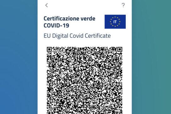 Certificazione Verde COVID-19 (Green Pass) dal 6 Agosto 2021